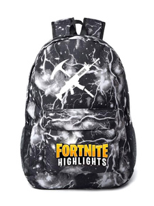 Carnevale Zaini Fortnite Anime Borsa in tela nera