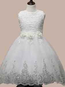 Princesa Girl Dress Manadlian Criança Raparigas do vestido de casamento da dama de honra vestido de paetês Strapless saia longa Organza 2-12 Anos 5 Cores