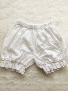 Calça de Lolita doce Bloomers jacquard solta calça branca de Lolita