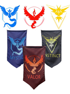 Carnaval Cosplay de Pocket Monster Moltres Articuno Zapdos Cosplay Flag