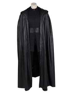 Carnaval Star Wars Cosplay Star Wars: The Rise Of Skywalker Kylo Ren Traje negro Capa Faux Leather Cosplay Disfraz