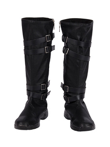 Kylo Ren Cosplay Botas Star Wars: The Rise Of Skywalker Sapatos de couro falso Cosplay
