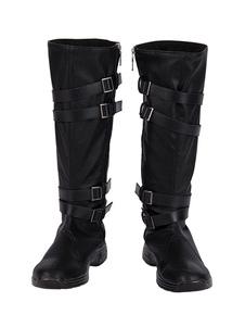 Kylo Ren Cosplay Boots Звездные войны: Восхождение Скайуокера Искусственная кожа Косплей Обувь