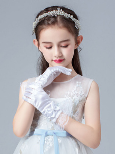 Аксессуары для цветочниц Свадебные аксессуары Перчатки для цветочниц Слоновая кость Короткий праздник
