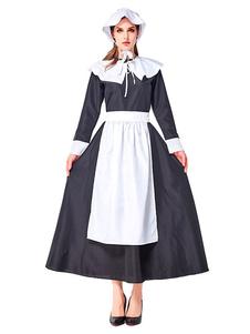 أزياء المرأة الرجعية اثنين من لهجة الانحناء اللباس خادمة خمر الملابس