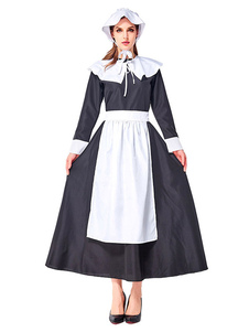 Trajes retro mulheres arcos dois tons vestido empregada roupas vintage