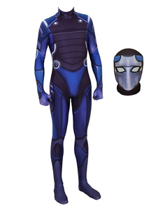 Carnevale Costume cosplay Fortnite Omega blu tuta Cosplay Custome