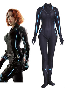 Carnevale Body Marvel  's The Avengers Cosplay Black Widow Tuta Body Marvel Comics Cosplay personalizzato