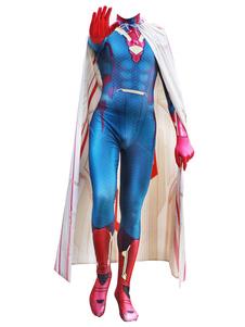Carnaval Marvel Comics Cosplay Capitán América Visión Cosplay Personalizado