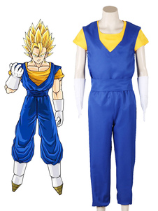 Disfraz Carnaval Dragonball Cosplay Royal Blue Son Goku Fighting Type Conjunto de medias de tela uniforme Carnaval