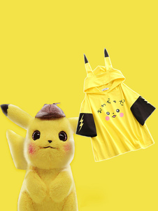 Carnaval Cosplay Pocket Monster Pokmon Pikachu Cotton Summer Short Sleeves T-Shirt Top Anime Cosplay Disfraz