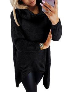 Suéter de las mujeres suéter casual de cuello alto de manga larga