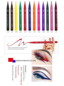 Подводка для глаз Макияж для глаз Black 12 Colors Eyeliners для женщин