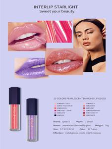 Maquiagem lábio Frou 12 cores mulheres batom