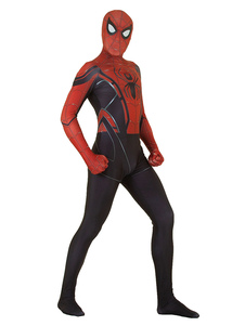 Человек-паук Косплей Красный лайкра Спандекс Комбинезон Купальник Marvel Comics Фильм Косплей Костюм