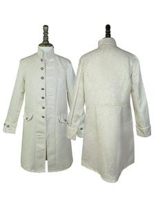 الرجال خمر معطف منتصف العمر زر حتى الجاكار الوقوف طوق الرجعية الملابس
