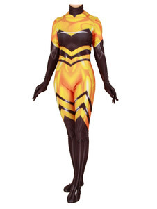 Costume Carnevale Costume cosplay di miracolosa coccinella Cosplay Queen Bee Lycra Spandex
