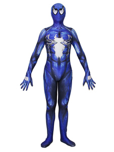 Carnaval Spider Man Cosplay Spider Man Blue Film Venom Lycra Spandex Mono Leotardo Marvel Comics Cosplay Disfraz