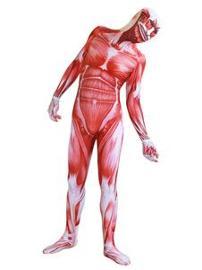 Косплей атака на титан лайкра спандекс комбинезон косплей костюм