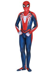 Человек-паук косплей красный фильм лайкра спандекс комбинезон купальник Marvel Comics косплей костюм
