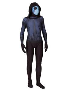 Disfraz Carnaval Traje de fantasma de Halloween Lycra Spandex Leotard Jumpsuit Carnaval