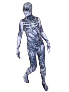 الهيكل العظمي هالوين زينتاي Lyxn دنة بذلة زي