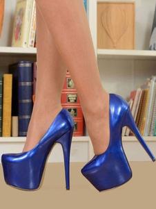 Scarpe sexy da donna con tacco alto con plateau e tacco metallico