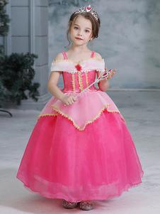 Vestidos da menina de flor Projetado Decote Organza Sem mangas Tornozelo-Comprimento Princesa Silhueta Applique Crianças Vestidos de festa social