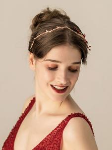 Tocados Boda Sombreros Diadema Cristal Metal Nupcial Accesorios para el cabello