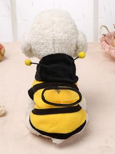 زي النحل الحيوانات الأليفة ملابس صفراء الصوف الحيوانات الأليفة التموين
