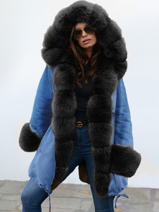 Пальто Для Женщин Pom Poms С Капюшоном Повседневная Крупногабаритное Шерстяное Пальто