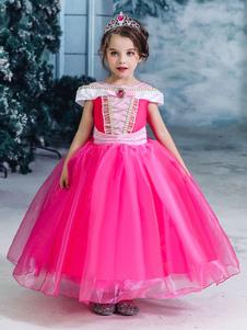 ارتفع الأطفال الأميرة تأثيري النائمة أورورا اللباس الاطفال ازياء تأثيري