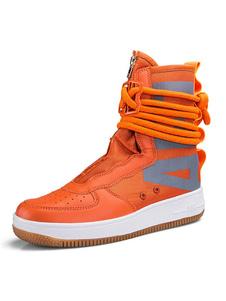 Mens Athletic Boots Современный круглый носок для хип-хопа и уличного танца