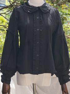 Presale Lolitashow Sweet Lolita Блузки Плиссированная рубашка с длинными рукавами Лолиты Лолита