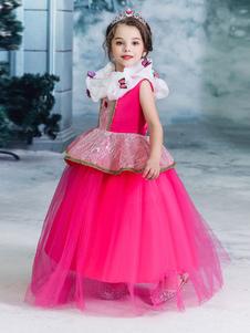 ارتفع الأطفال الأميرة تأثيري أورورا النائمة اللباس الاطفال تأثيري ازياء