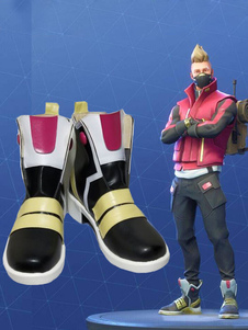 Carnaval Fortnite Cosplay Calzado Drift PU Cosplay Botas