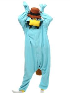 Magby Kigurumi Onesie Pajamas Light Sky Blue Flannel Jumpsuit Kigurumi ازياء