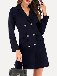 Женский пиджак стильный отложной воротник пуговицы с длинными рукавами