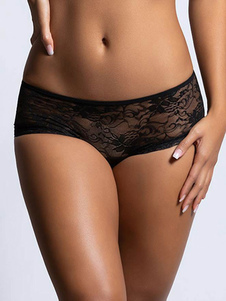 Mutandine Sexy Lingerie Mutandine donne Black Lace Panties poliestere