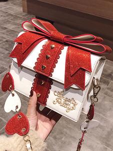 Сумочка Sweet Lolita Белая кожаная сумка через плечо из искусственной кожи Lolita Accessories