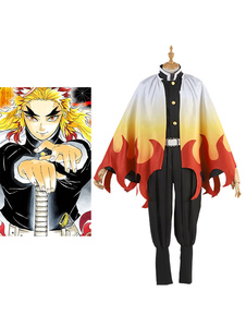 Disfraz Carnaval Rengoku Kyoujurou Cosplay Demon Slayer: Kimetsu No Yaiba Cosplay Set Carnaval