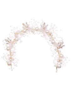 Headpieces Casamento Headwear Flor Pérola Acessórios para cabelo nupcial
