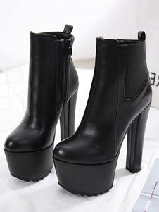 """النساء أحذية الكاحل الأسود جولة تو منهاج 6.3 """"الجوارب"""