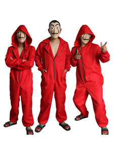 Money Heist Cosplay Dali Red La Casa De Papel Cosplay Jumpsuit