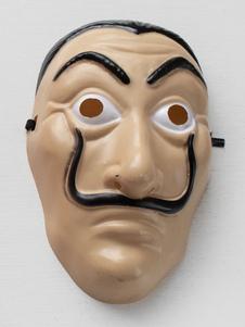 Dinero Heist Cosplay Dali Máscara PVC Cosplay Accesorio