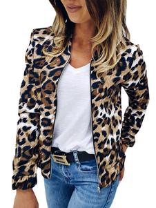 Jaqueta de motocicleta com estampa de leopardo