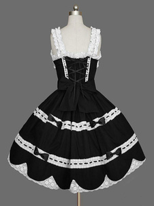 الحلو لوليتا JSK اللباس الكشكشة الأسود لوليتا البلوز تنورة