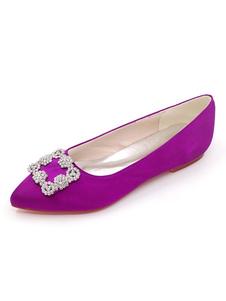 أحذية الزفاف الساتان أشار تو أحذية الزفاف شقة