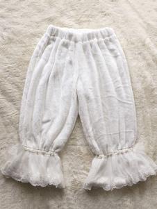 Calças de Lolita de calça de Lolita doce laço branco arco Harem Lolita