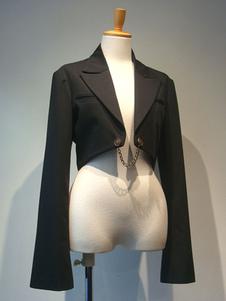 Gothic Lolita Coats Черные новогодние металлические детали Хлопковая смесь Lolita Outwears